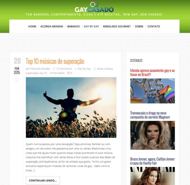 Consultoria e projeto editorial para Blog Gay Casado, de Marcelo Morales. Design da Okavango.